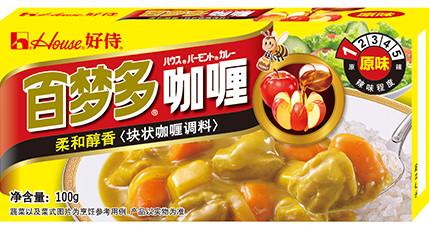「百夢多咖喱」。中国のバーモントカレーです。
